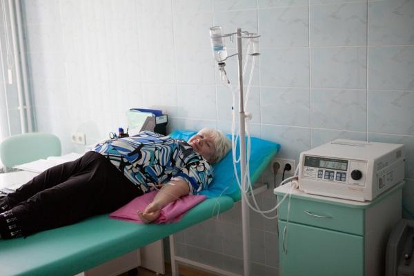Сеанс внутривенной озонотерапии