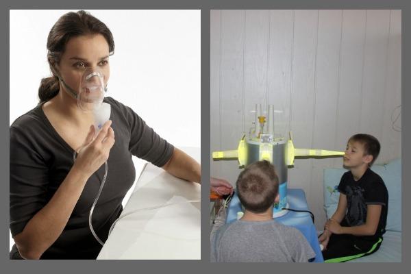 Ингаляция через небулайзер, УФО носа