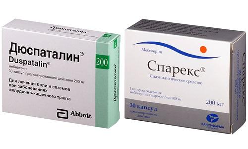 Спазм кишечника сопровождает множество заболеваний ЖКТ, поэтому для снятия болей нередко используют миотропные препараты - Дюспаталин или Спарекс