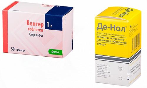 Для лечения заболеваний органов пищеварения врачи нередко назначают препараты Вентер или Де-Нол
