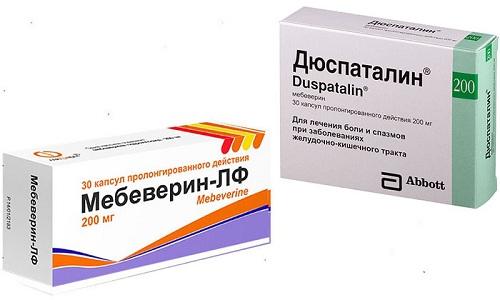 Мебеверин и Дюспаталин применяют для симптоматического лечения заболеваний органов ЖКТ
