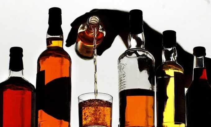 Запрещено употреблять при строгой диете любые спиртные напитки