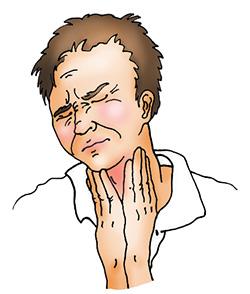 Боль в горле из-за ожога парами каустической содой