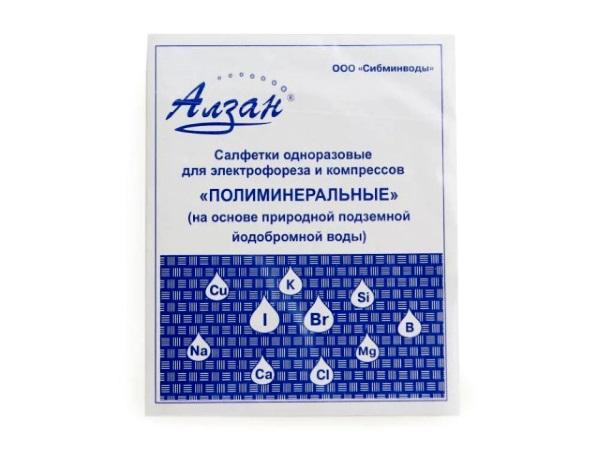 Полиминеральные одноразовые салфетки для электрофореза