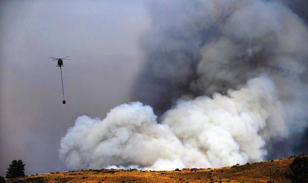 дым от пожара фото