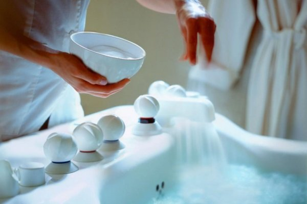 Приготовление ванны с крахмалом