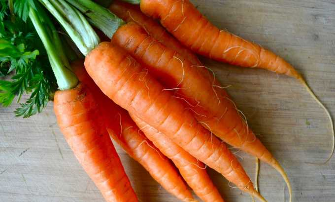 Правильная диета включает морковь