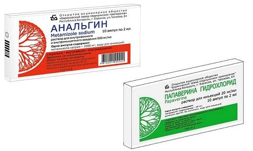 Анальгин и Папаверин - эффективные средства для купирования острых симптомов болезни