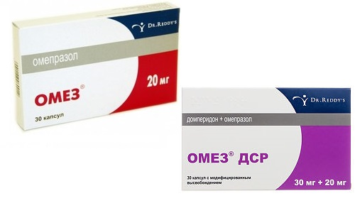 Омез и Омез ДСР - медикаменты, которые назначаются при язвенной болезни