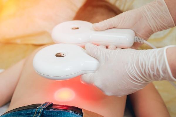 МЛТ проводится на обнаженный участок тела