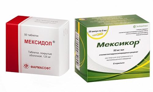 Чтобы восстановить общее состояние и улучшить кровоток в тканях, рекомендуется использовать ноотропы и антиоксиданты - Мексикор и Мексидол