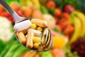 полная ложка таблетированных витаминов