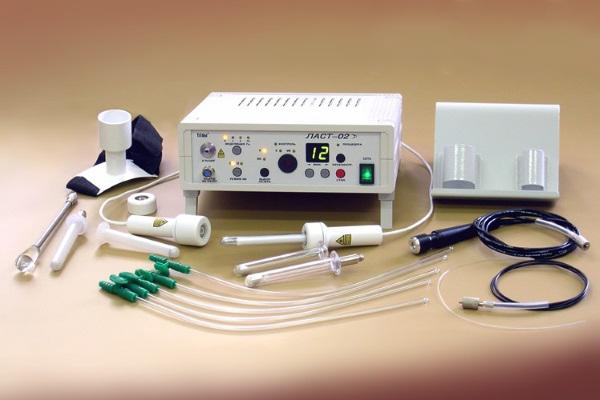 Аппарат «ЛАСТ-02» воздействует лазерным излучением красной и инфракрасной областей спектра
