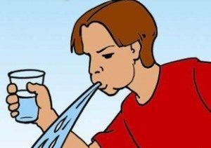 рисунок промывания желудка водой