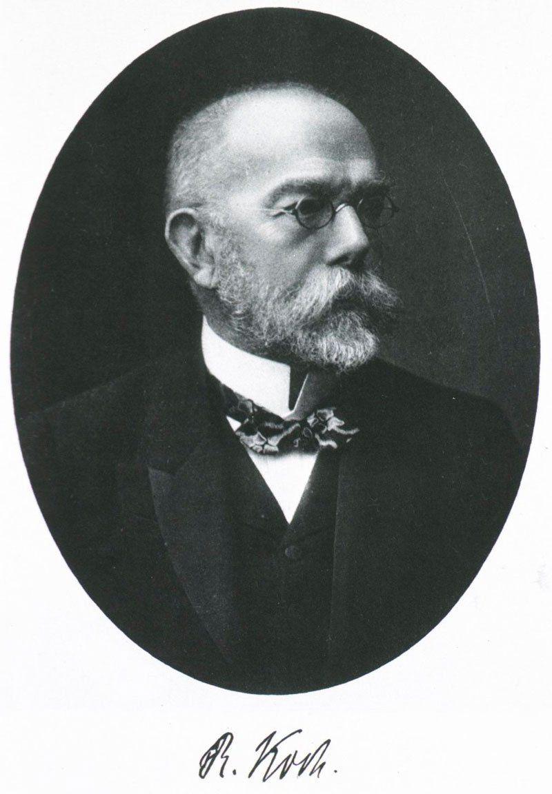 Портрет Роберта Генриха Коха