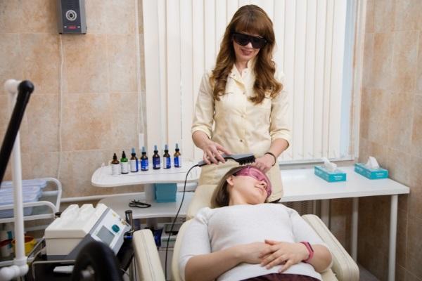 Лазеротерапия волосистой части головы
