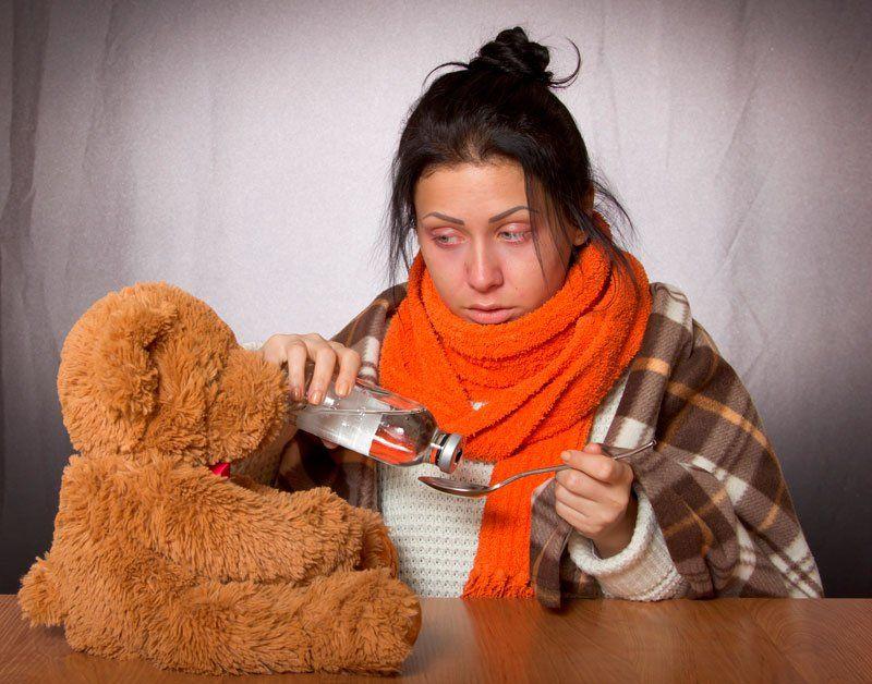 Девушка, зараженная туберкулезом