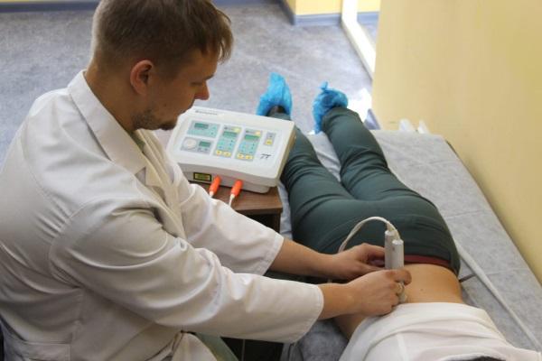 Сеанс магнитолазерной терапии