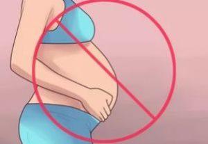 рисунок беременной женщины и знака stop
