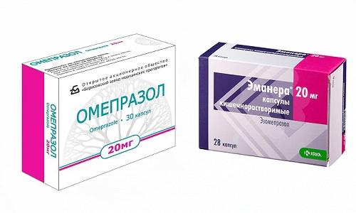 Эманера или Омепразол применяются для лечения болезней пищеварительной системы