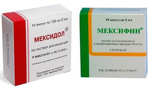 Мексифин и Мексидол - препараты, отвечающие за улучшение умственной работоспособности