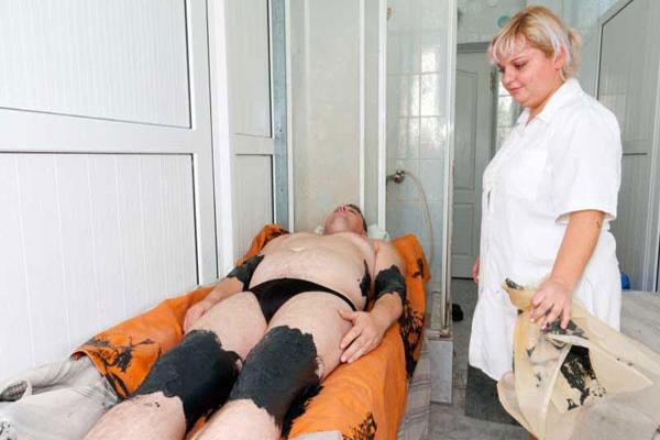 Грязевые аппликации на область суставов
