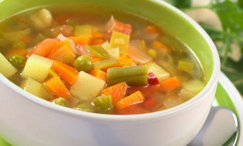 На обед предусмотрены овощные супы